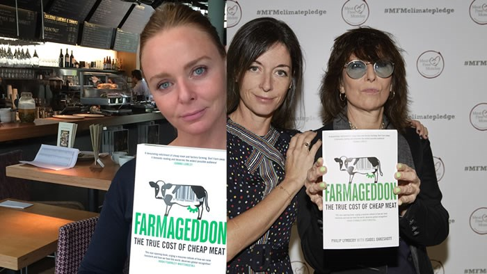 Stella & Mary McCartney and singer Chrissie Hynde celebrate MFM's pledge – and Farmageddon
